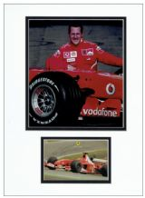 Michael Schumacher Autograph Signed Photo Display